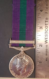 "#1-223 British George VI 1918-1962 General Service Medal w/Bar ""PALESTINE 1945-1948"