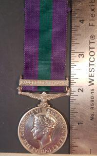 "#1-223 British George VI 1918-1962 General Service Medal w/Bar ""PALESTINE 1945-1948"