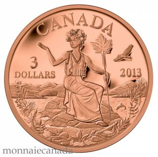 2013 - Bronze Coin - Canada: An Allegory $3