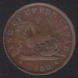 P.C. 1850 Bank of Upper Canada Penny PC-6A1