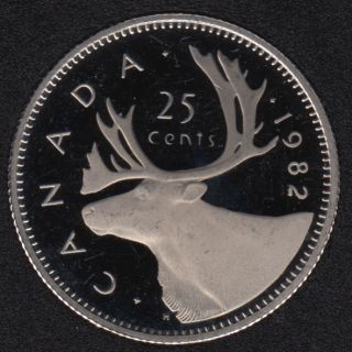 1982 - Proof - Canada 25 Cents