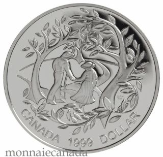 1999 Proof Sterling Silver Dollar - International Year of Older Persons