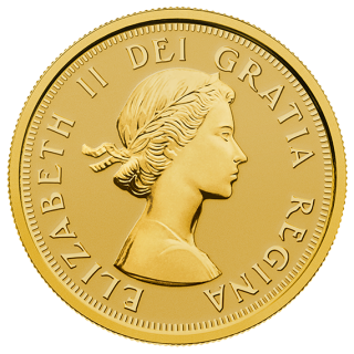 2014 - $10 - Pure Gold Coin Maple Leaves with Queen Elizabeth II Effigy from 1953