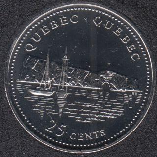 1992 - #910 NBU - Quebec - Canada 25 Cents