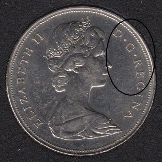 1968 - B.Unc - Double 'D R REG' - Nickel - Canada Dollar