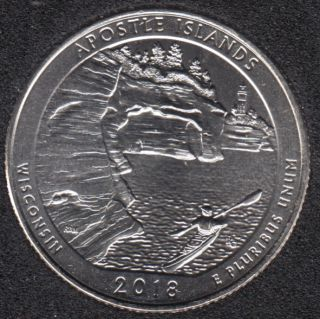 2018 D - Apostle Islands - 25 Cents