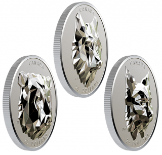 2019 - $30 - Multifaceted Animal Head Series: 1 oz. Pure Silver Extraordinarily-High Relief 3-Coin Set