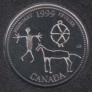 1999 - #2 NBU - Fevrier - Canada 25 Cents