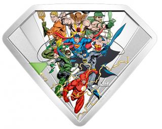 2018 - $100 - 10 oz. Pure Silver Coin - The Bronze Age of DC Comics