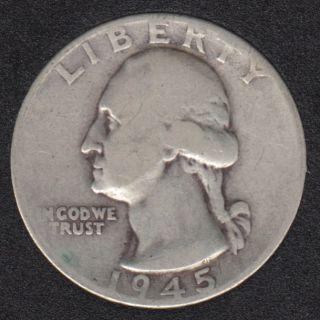 1945 - Washington - 25 Cents