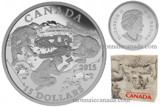 2015 - $15 - Fine Silver - Exploring Canada - Scientific Exploration
