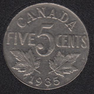 1935 - VF - Canada 5 Cents