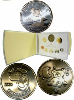 2006 Proof Set With Silver Dollar Teddy Bear Baby with Baby Medaillon