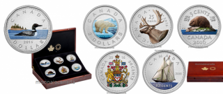 2016 - 5 oz. Fine Silver Six-Coin – Big Coin Series