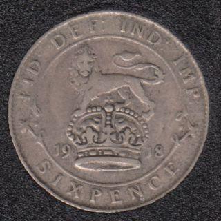 1918 - 6 Pence - Grande Bretagne