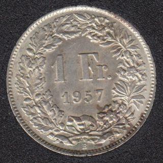 1957 B - 1 Franc - AU - Suisse