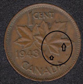 1943 - Break Branch to ML & in ML - Canada Cent