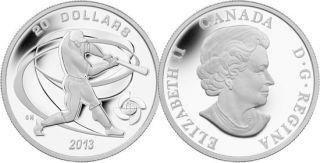 2013 - $20 - 1 oz Fine Silver Coin - Hitter
