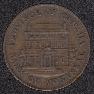 P.C. 1842 Half Penny Token Banf of Montreal View PC-1A2