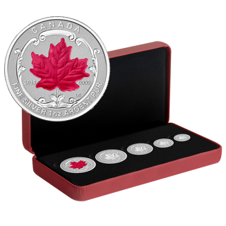 2015 - Fine Silver Incuse Fractional Set - Maple Leaf