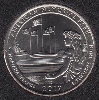 2019 D - B.Unc - American Memorial Park - 25 Cents