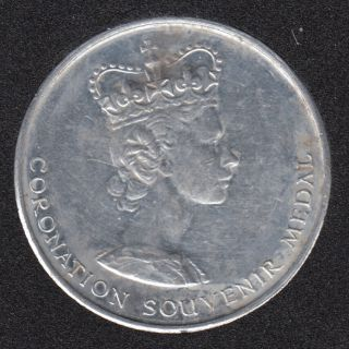 1953 - Coronation Souvenir Medal - The National Playing Fields Assocn.