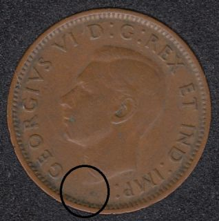 1945 - Break Bust to Rim - Canada Cent