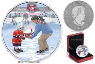 2018 - $10 - Pure Silver Coloured Coin - Learning to Play: Montreal Canadiens®