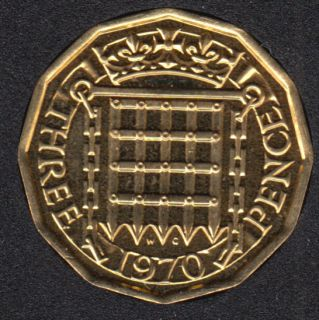 1970 - 3 Pence - Proof - Grande Bretagne