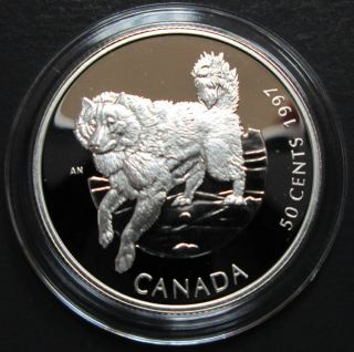 1997 Canada 50 Cents Sterling Silver - Canadian Eskimo Dog