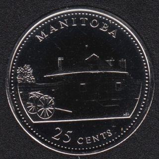 1992 - #4 NBU - Manitoba - Canada 25 Cents