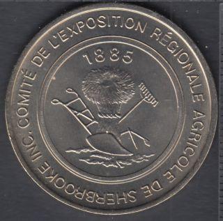 Sherbrooke - 1985 - 1885 - 100° Ann. de l'Exposition Agricole - $1 Dollar de Commerce