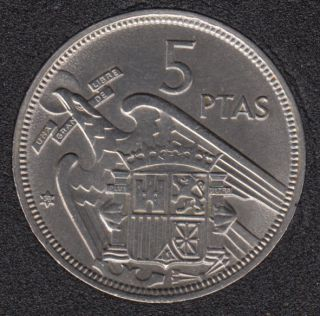 1957 (58) - 5 Pesetas - Espagne