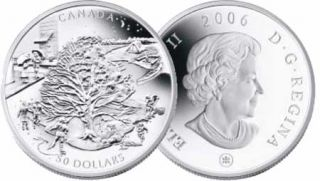 2006 - $50 - 5oz Silver 'Four Seasons'