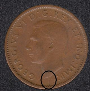 1944 - Break Bust to Rim - Canada Cent