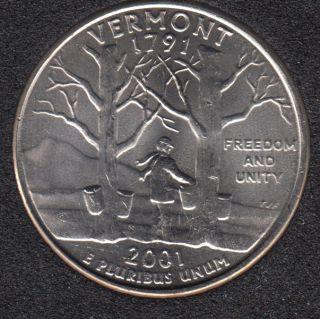 2001 P - Vermont - 25 Cents