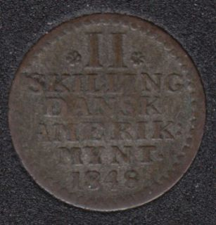 1848 - 2 Skilling - Danish West Indies