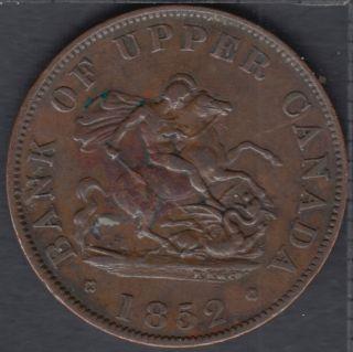 P.C. 1852 Bank of Upper Canada Half Penny - VF - PC-5B2