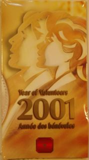 2001 P - 10 Cents - Year of Volunteers - Silver Sterling Special Edition