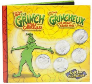 2001 Reelcoinz Collectibles - 5 Medallions & Stickers - The Grinch
