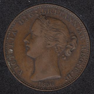N.S. 1856 Victoria Mayflower Coinage - Penny Token - VF - NS-6A1
