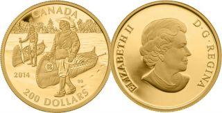 2014 - $200 - Pure Gold Coin - Samuel de Champlain