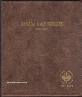 Album Canada Uni-Safe 50 Cents 1870-1945