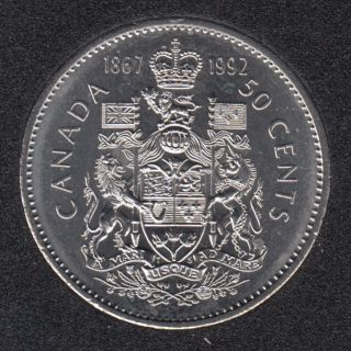 1992 - 1867 - B.Unc - Canada 50 Cents