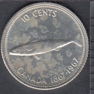 1967 - Cleaned - Canada 10 Cents