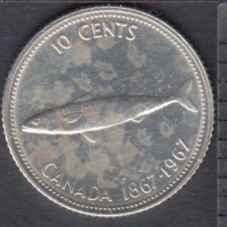 1967 - Nettoyé - Canada 10 Cents