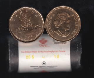 2004 Canada Roll $1 Dollar - Lucky Loonie - 25 Coins - UNC