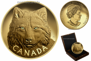 2017 - $2500 - Pure Gold One-Kilogram Coin – In the Eyes of the Timber Wolf
