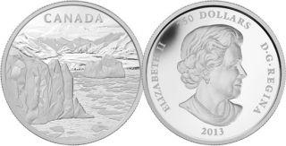 2013 - $250 - Pièce de un kilo en argent fin - Paysage de l'Arctique canadien