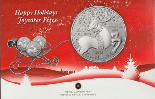 2012 - $20 for $20 - Fine Silver Coin - Magical Reindeer